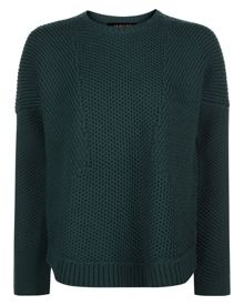 Jaeger Wool Textured Block Sweater