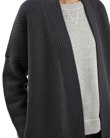Jaeger Wool Textured Block Cardigan