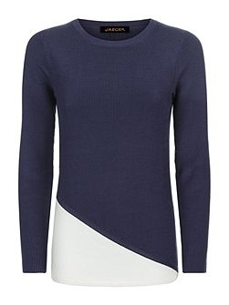Colour Block Ribbed Sweater