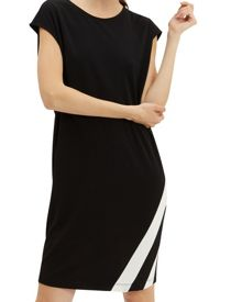 Jaeger Jersey Stripe Panel Dress