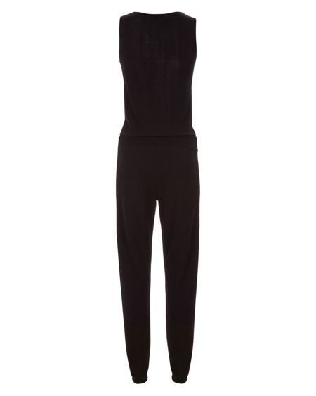 Jaeger Jersey Stripe Panel Jumpsuit
