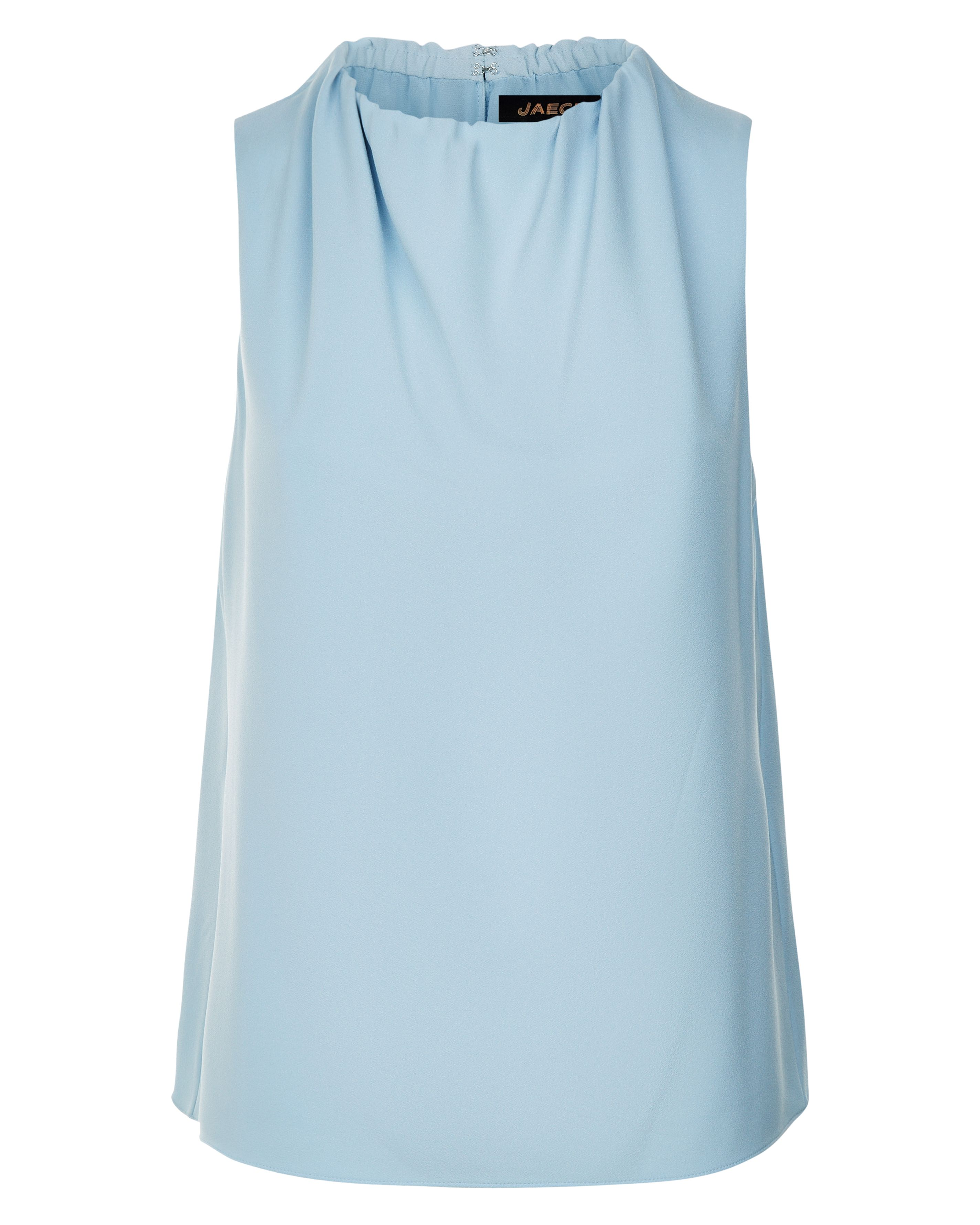 Jaeger Ruched Neck Sleeveless Top, Blue