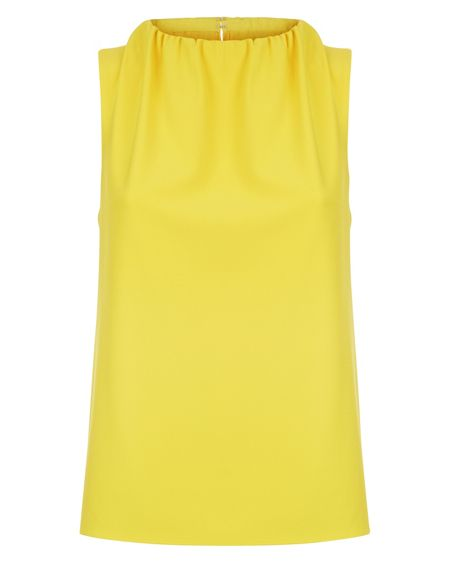 Jaeger Ruched Neck Sleeveless Top