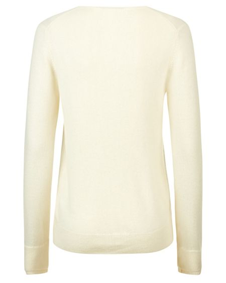 Jaeger Cashmere Double Trim Sweater