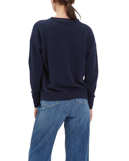 Jaeger Cashmere V-Neck Pocket Sweater