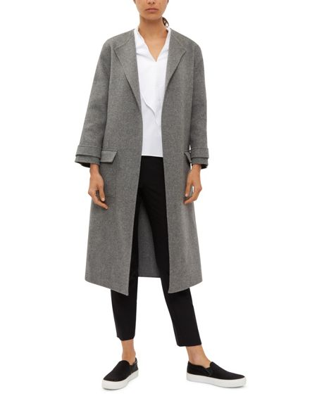 Jaeger Double-Faced Wool Pocket Coat