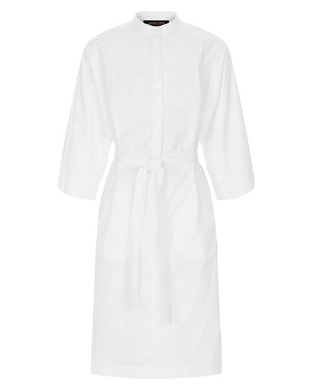 Jaeger Draped Sleeve Shirt Dress