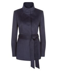 Jaeger Wool Funnel Neck Coat