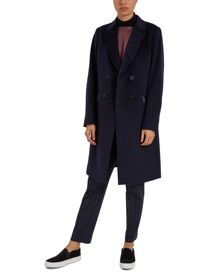 Jaeger Wool Double-Breasted Zip Coat