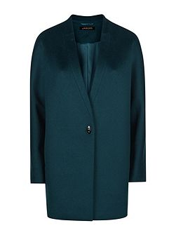 Wool Turn Back Lapel Coat