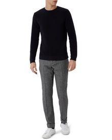 Jaeger Wool Horizontal Ribbed Sweater