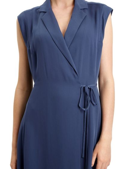 Jaeger Lapel Wrap Dress
