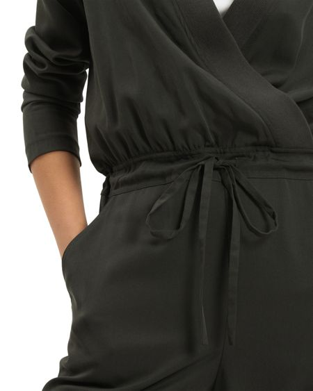 Jaeger Knit Trim Detail Jumpsuit