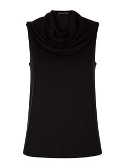 Jersey Cowl Neck Top