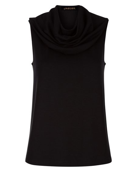 Jaeger Jersey Cowl Neck Top