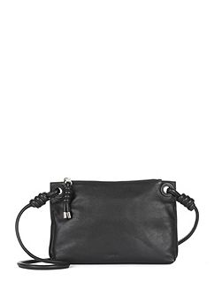 Leather Knot Cross Body Bag