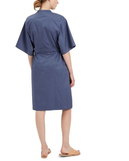 Jaeger Cotton Gathered Shirt Dress
