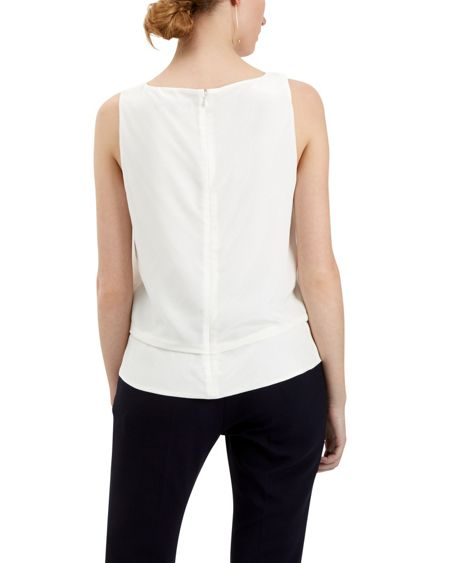 Jaeger Silk Draped Peplum Top