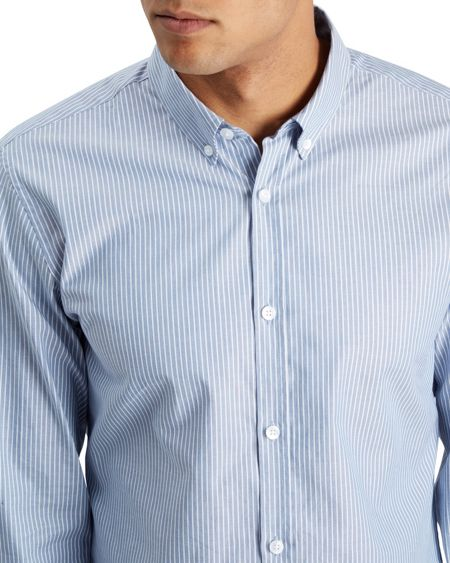 Jaeger Striped Oxford Shirt