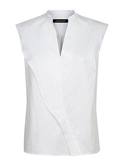 Cotton Frill Sleeveless Top