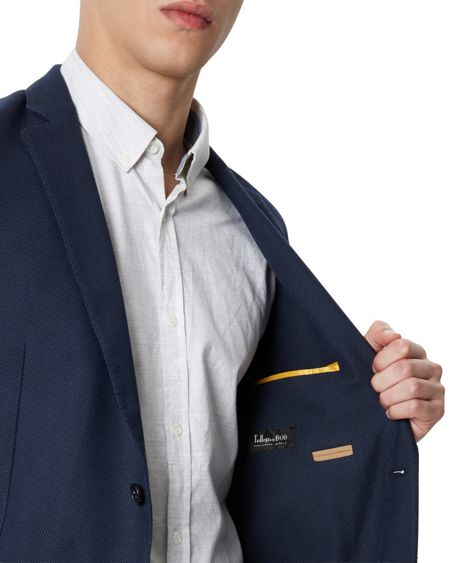 Jaeger Wool Cotton Slim Blazer