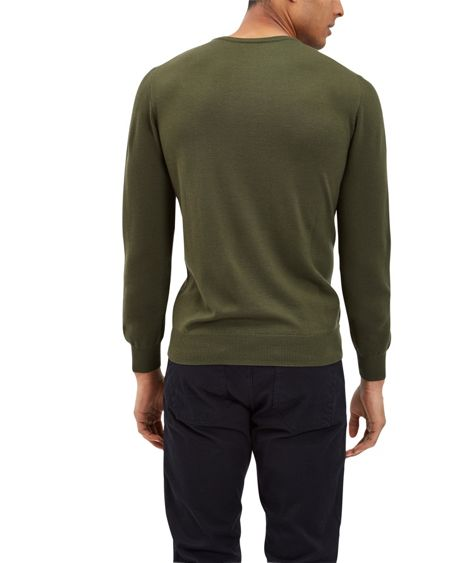 Jaeger Merino Wool Crew Neck Sweater