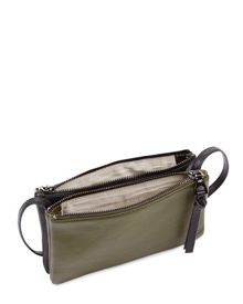 Jaeger Leather Double-Pouch Bag
