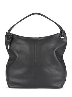 Leather Knot Hobo Bag