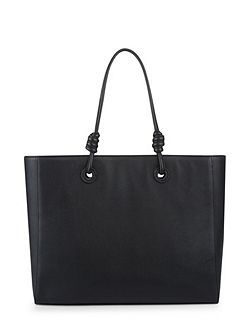 Leather Knot Oversized Tote