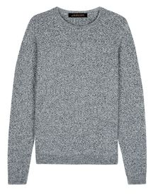 Jaeger Textured Mouliné Wool Sweater