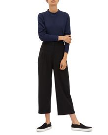 Jaeger Wool Cropped Wide-Leg Trousers