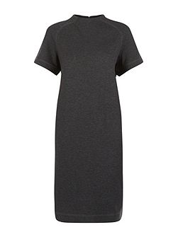Ponte Funnel Neck Dress