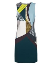 Jaeger Pattern Clash Dress