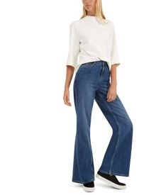 Jaeger High-Rise Wide-Leg Jeans