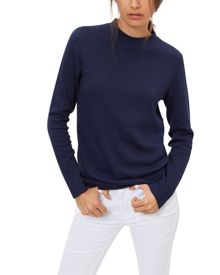 Jaeger Cotton Ribbed Sweater