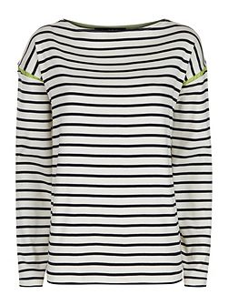 Tipped Winte Breton Top