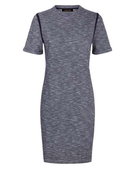 Jaeger Tipping Detail T-Shirt Dress