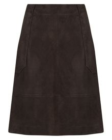 Jaeger Suede Patch Pocket Skirt