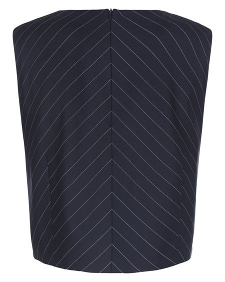 Jaeger Wool Pinstripe Top
