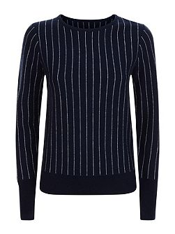 Wool Cashmere Stripe Sweater