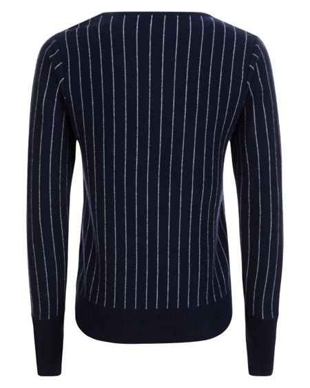 Jaeger Wool Cashmere Stripe Sweater