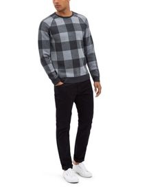 Jaeger Merino Buffalo Check Sweater