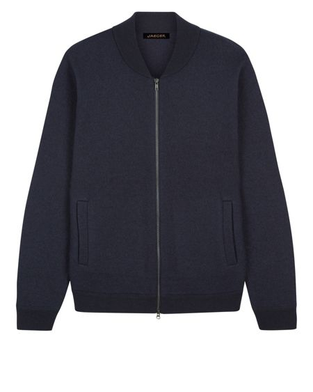 Jaeger Boiled Wool Knitted Bomber