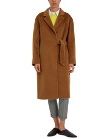 Jaeger Alpaca Wool Half-Belt Coat