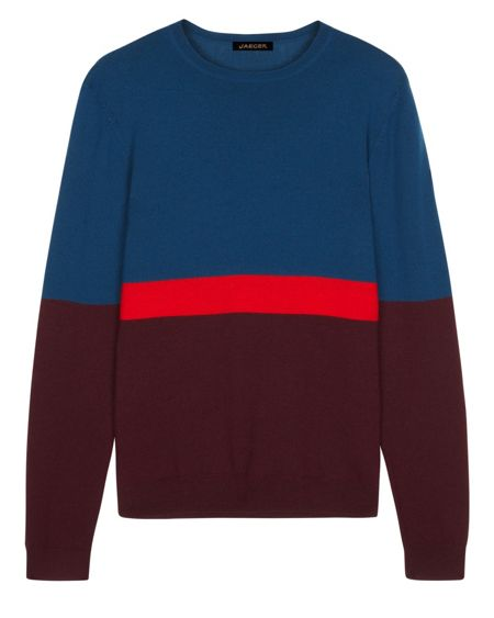 Jaeger Merino Colour Block Sweater