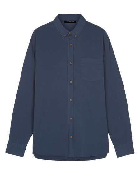 Jaeger Washed Cotton Twill Shirt