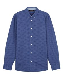Jaeger Chambray Shadow Dot Shirt