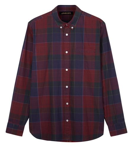 Jaeger Sanded Overpane Check Shirt