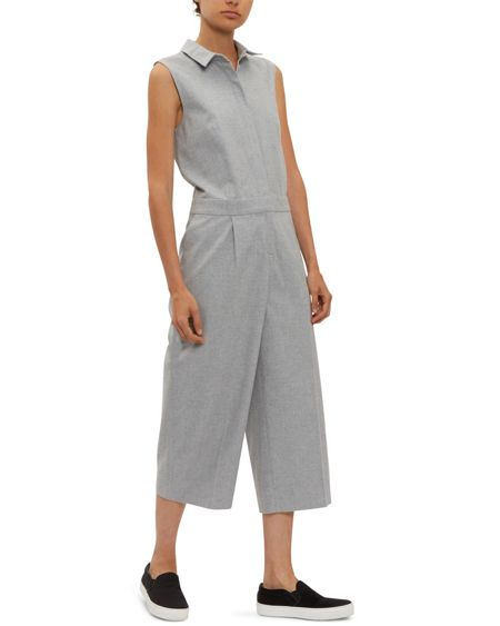 Jaeger Brushed Cotton Jumpsuit