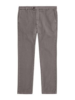 Garment-Dyed Slim Chinos